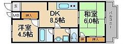 新栄アンピール第弐博多駅東[5階]の間取り