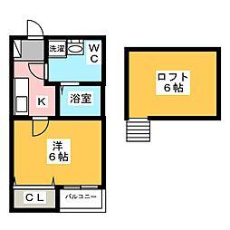 Sol箱崎[1階]の間取り