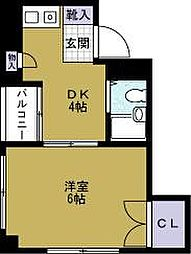 BAY TOWER OSAKA[7階]の間取り