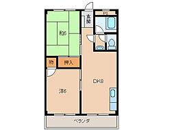 ラフィーネ和歌山壱番館[1階]の間取り