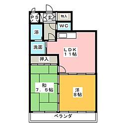 リビュー豊島[4階]の間取り