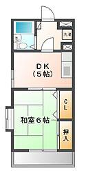 メゾンド習志野[1階]の間取り