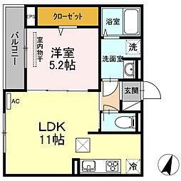 (仮)D−room草津梅が台[103号室]の間取り