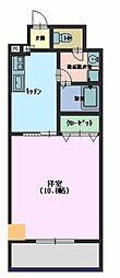 広島県東広島市西条土与丸 1丁目の賃貸マンションの間取り