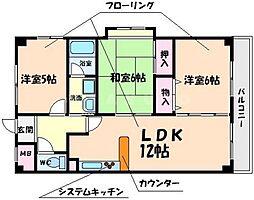 サンライズ3[4階]の間取り
