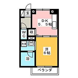 アンジュ[3階]の間取り