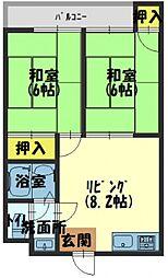 カトレアマンション[3階]の間取り