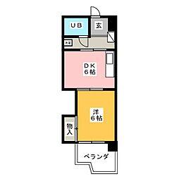 菱家ビル[4階]の間取り