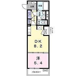 バス 農協会館前下車 徒歩3分の賃貸マンション 1階1DKの間取り
