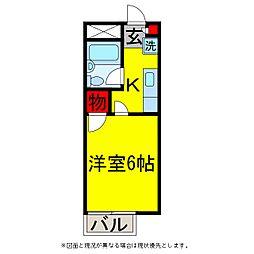 メゾンドールC[2階]の間取り