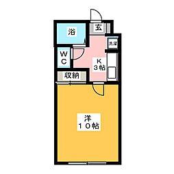 ショーケー上杉一号館[1階]の間取り