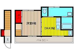 NSハウス2[201号室]の間取り