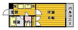 アクティアコート田島[201号室]の間取り