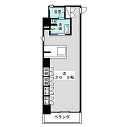 スクエア名駅南[2階]の間取り