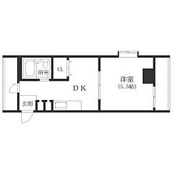 大阪府大阪市西成区潮路1の賃貸マンションの間取り