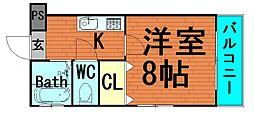 ボンジュール本田[5階]の間取り