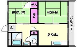 兵庫県神戸市東灘区本山南町6丁目の賃貸マンションの間取り