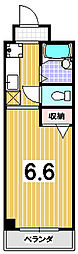 モラード藤井[206号室]の間取り