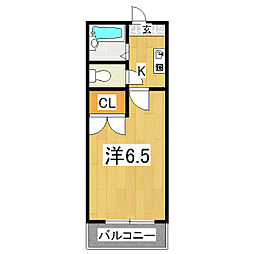 メゾン桃栄II[1階]の間取り
