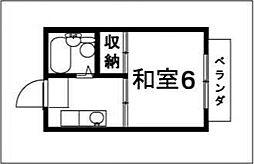 スパローハイツ2[102号室号室]の間取り
