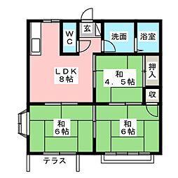 静岡県静岡市清水区能島の賃貸マンションの間取り