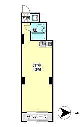 丸宏マンション[5階]の間取り