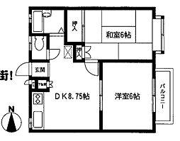ドミールピア2[2階]の間取り