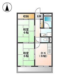 インターシティー黒川[8階]の間取り