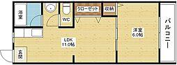 ビギンハイツ[3階]の間取り