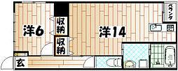 ロード黒崎[203号室]の間取り