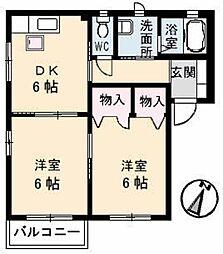 ディアーナHIRO B棟[1階]の間取り