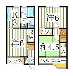 シャルム江戸川台D棟[1階]の間取り