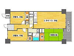 サワードゥ住之江公園[8階]の間取り