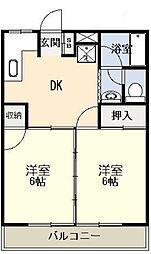 神谷マンションI[3階]の間取り