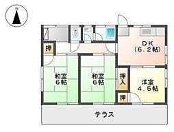 [一戸建] 愛媛県松山市南斎院町 の賃貸【/】の間取り