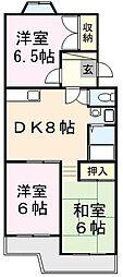 第二葵マンション[306号室]の間取り