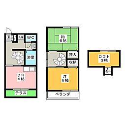 [テラスハウス] 静岡県焼津市大栄町1丁目 の賃貸【/】の間取り