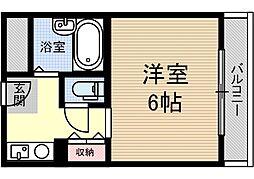 ナチュール茨木[2階]の間取り