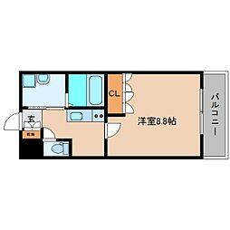 近鉄大阪線 大和高田駅 バス15分 広陵西小学校前下車 徒歩2分の賃貸マンション 2階1Kの間取り
