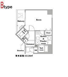 JUNWAIII[7階]の間取り