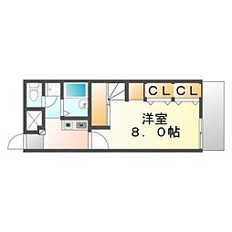 広島県福山市青葉台2の賃貸アパートの間取り