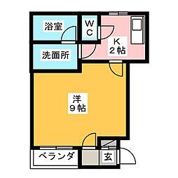 エクレール[1階]の間取り