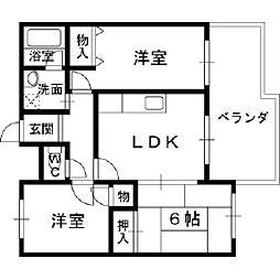 オーナーズマンション若江[2階]の間取り