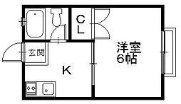 「ジラソーレプリモ」〜ツタヤやコンビニ近く好立地〜[2階]の間取り