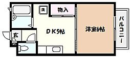 兵庫県西宮市桜町の賃貸アパートの間取り