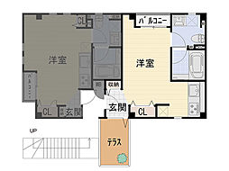 九条南 新築賃貸マンション[102号室]の間取り