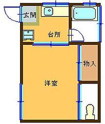 第5高尾荘[102号室]の間取り