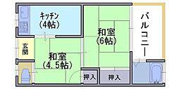 美沢荘[2階]の間取り