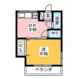 樋井川マンションII[2階]の間取り