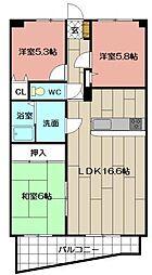 パレス空港通り 703号[702号室]の間取り